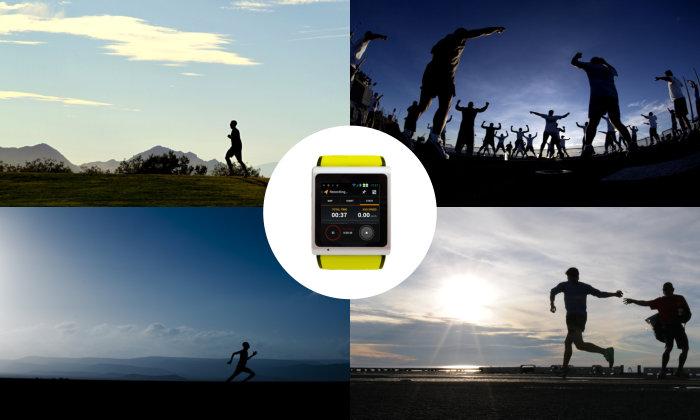 Cette image est une photo de présentation de la smartwatch A.I watch, qui se veut autonome, avec sa fonction téléphone et sa carte SIM directement intégré dans le bracelet