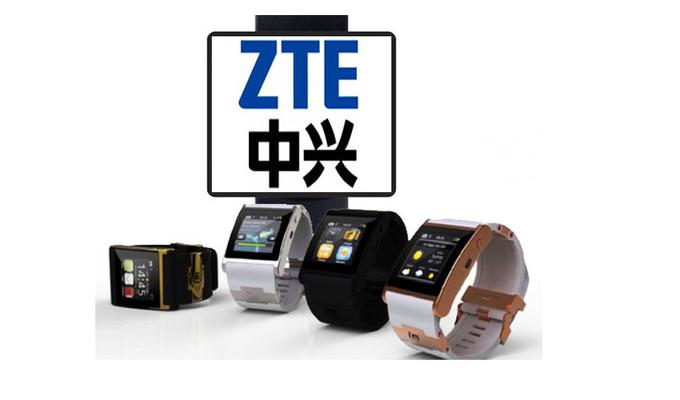 Cette photo présente la nouvelle gamme de smartwatch que lance ZTE, avec le premier modèle, la Bluewatch.