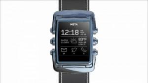 Cette image présente la nouvelle smartwatch de Meta, alliant luxe et technologie