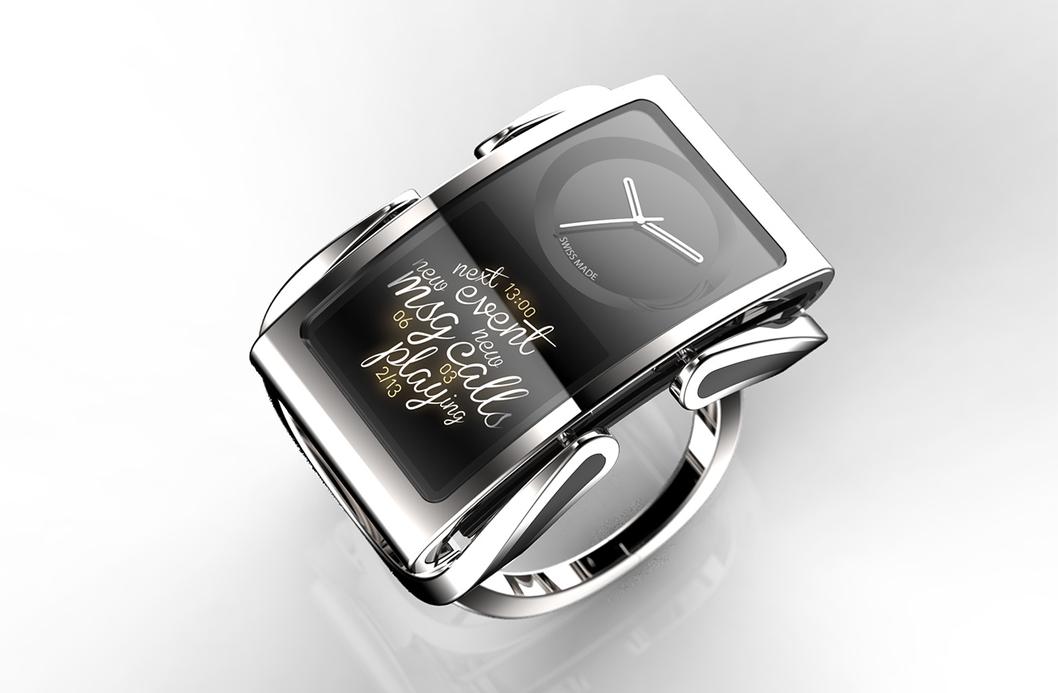 La smartwatch Ibis est composée de deux écrans OLED bien distincts.