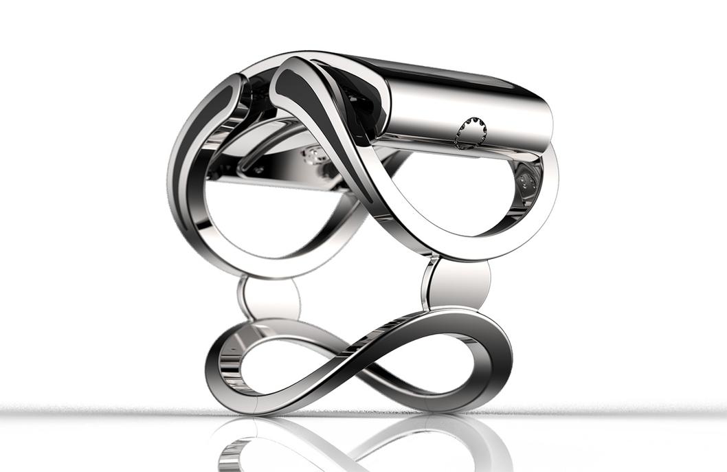 La montre Ibis, créée à base de cristaux, est équipée d'un accéléromètre et d'un e-compass