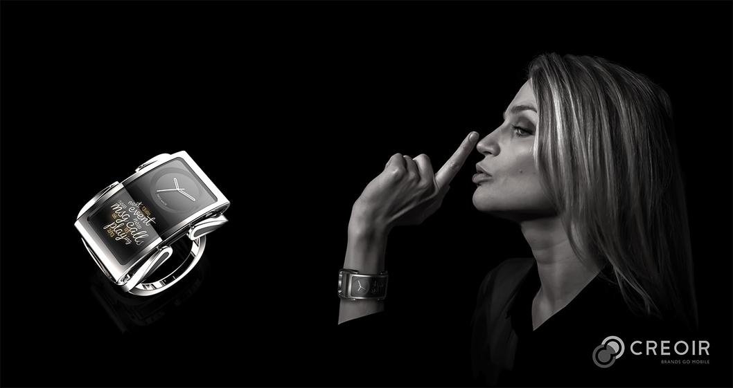 La société Creoir lance la smartwatch Ibis au MWC 2014.