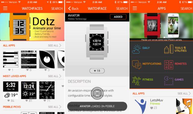 Pebble Store d'une application qui vous permet de payer dans les commerces locaux directement avec votre montre.