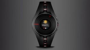 Cette image présente la smartwatch de Xiaomi, qui devrait être présenté d'ici la fin Octobre