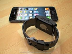 Cette photo montre la smartwatch d'Apple en pleine phase de synchronisation avec un iPhone