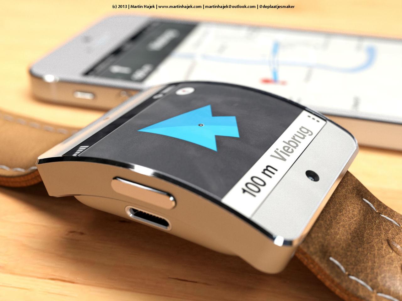 Cette image présente un concept de smartwatch iWatch d'Apple, qui selon notre article, pourrait bientôt servir à tricher aux examens