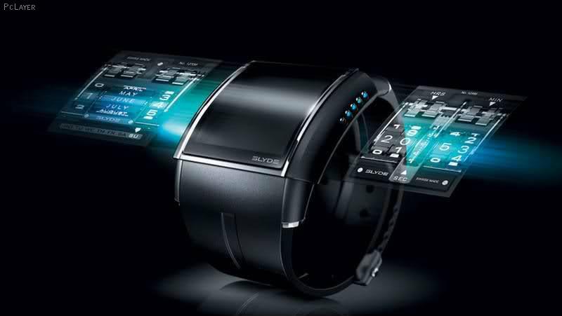 Cette image présente un concept de smartwatch, qui pourrait bientôt être interdite à l'école, pour prévenir de la triche aux examens