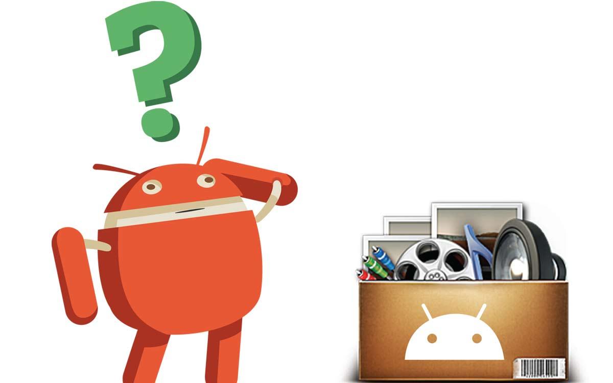 Cette image montre la mascotte Android réfléchissant au bon moyen pour augmenter la capacité de stockage d'un appareil Android
