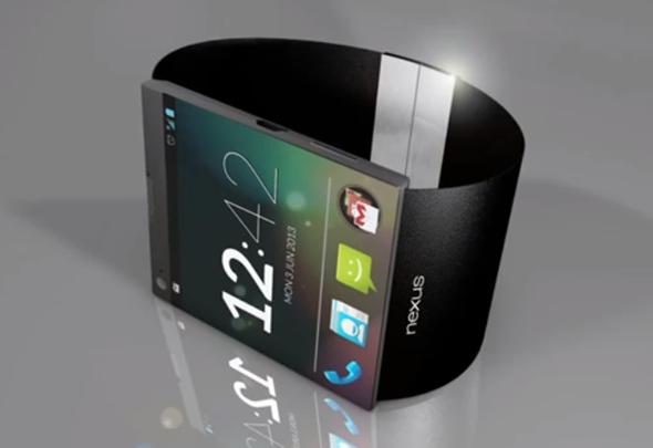 Cette image présente un concept de la smartwatch Google Nexus, qui devrait être fabriqué par LG